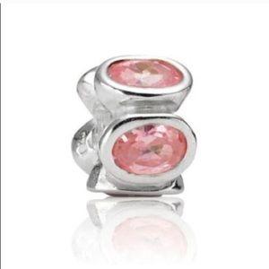 Pandora Oval Lights Pink CZ Cubic Zirconia Charm